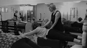 Embody Movement Pilates Studio Teacher Sabine with Group Reformer Class