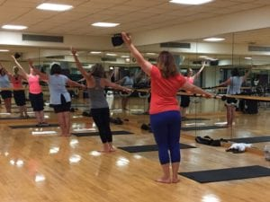class at the barre